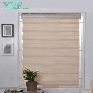 Velkoobchod Soft gáza Custom Korean Style Sheer 100% polyester Blackout Fabric Zebra Blinds